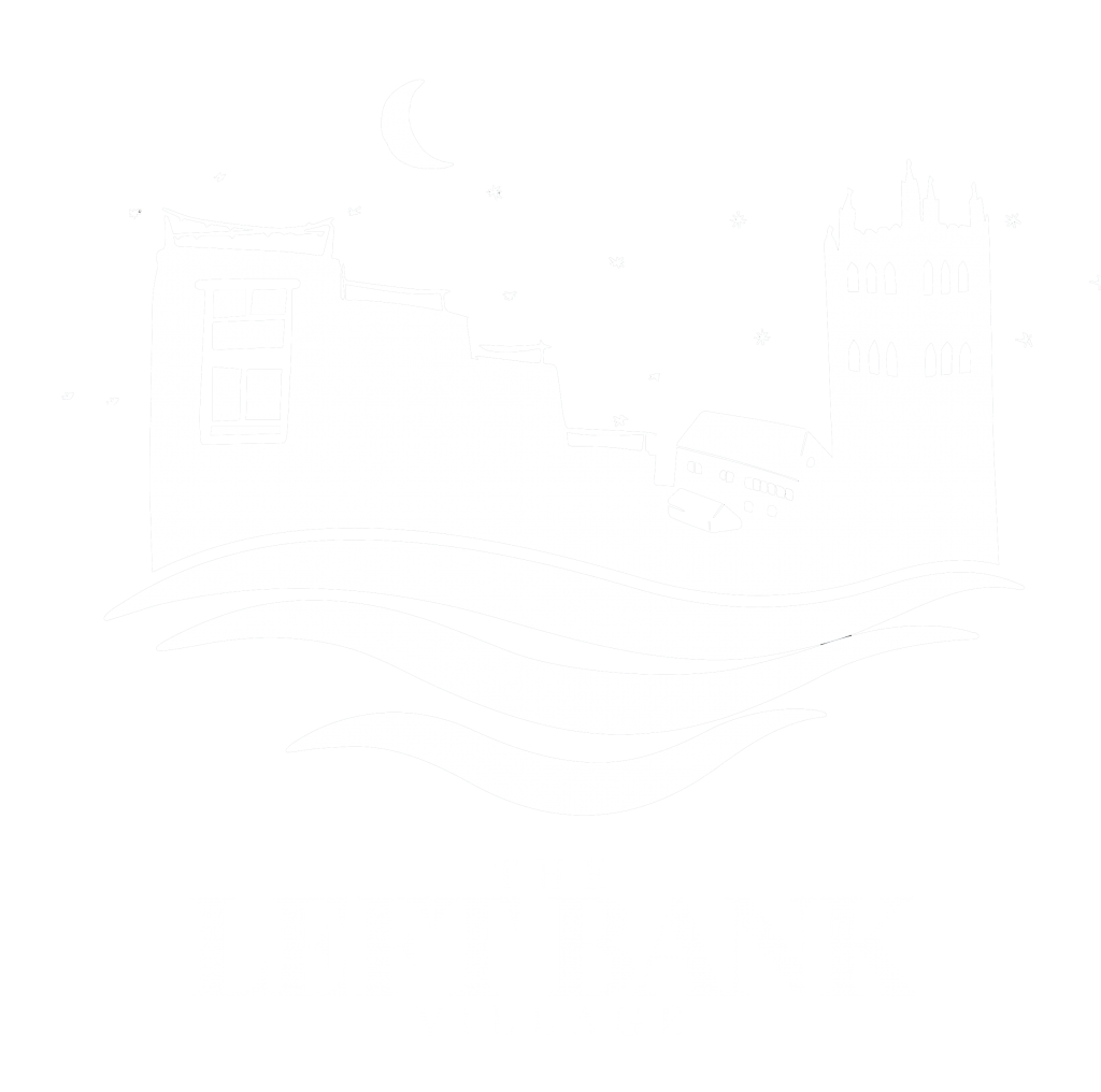 The Left Bank Village logo in white