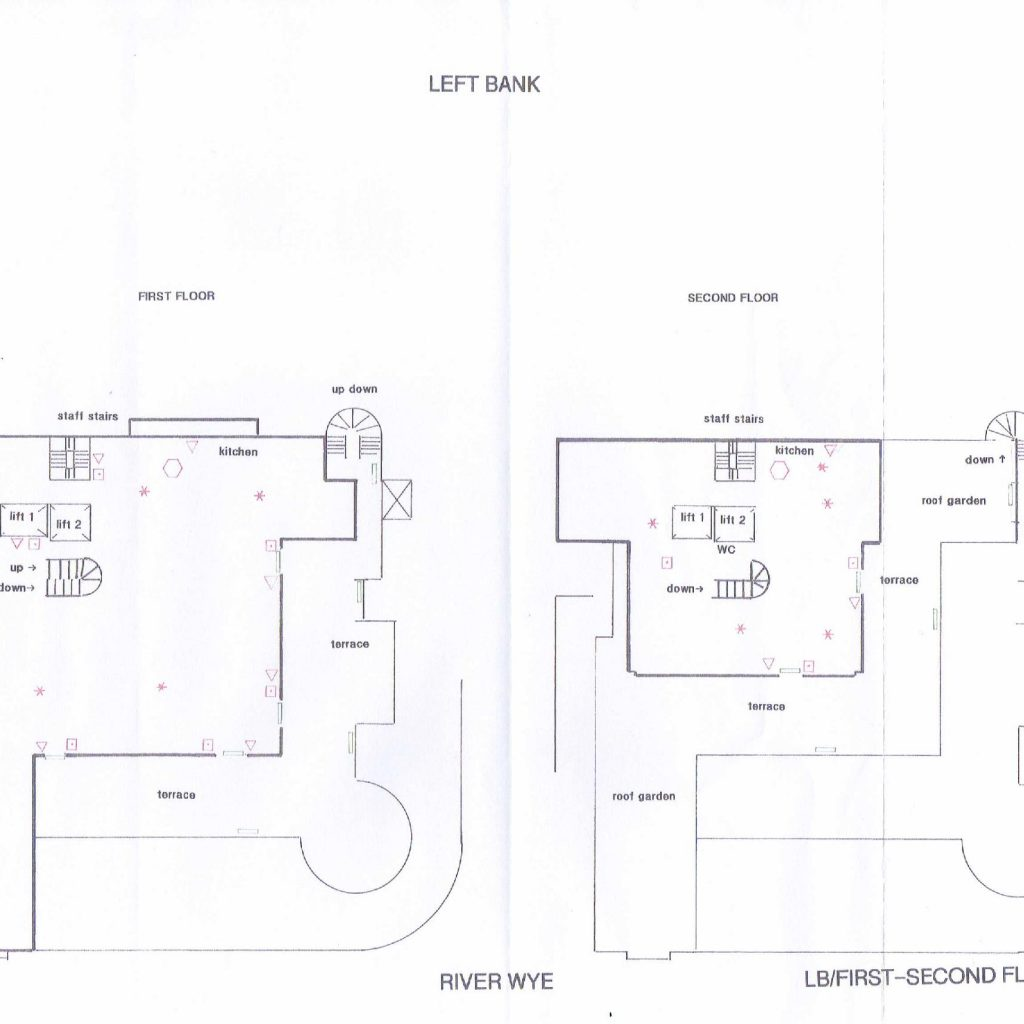 Floor plans for the Ground and Middle floors