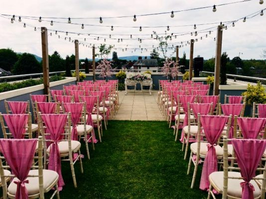 Roof Terrace Ceremony at Charles' Bar